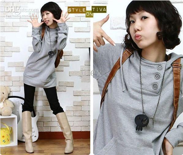801 Japan Korea Style Top Fashion Autumn Winter Grey Sidekick Women Sweatshirts Suede Jacket