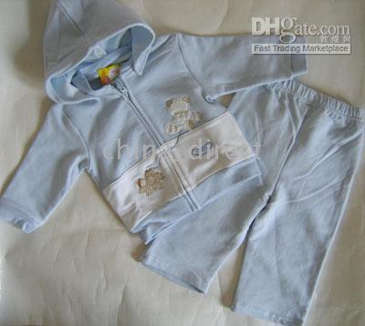 Wholesale Baby toddler Sweatsuits Jacket suits coat Pant pants Baby Jumper hoodies sets NEW WITH BOX