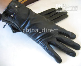 Leather Gloves skin gloves LEATHER GLOVES Womens 25pairs lot #1348