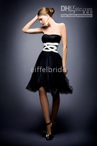 Ball Gown baby doll gown - baby doll short dress black ruched bodice tulled skirt cocktail dress