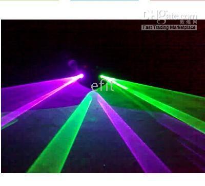 Wholesale new PRO Purple Green GP Laser Light System DMX DJ Show Projector mw DL GP