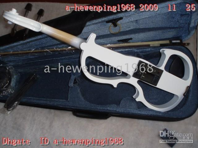 Wholesale New arrival Chinese White Electric Violin Outfit white
