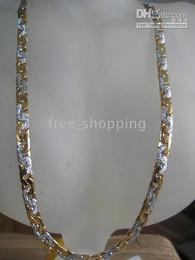 Wholesale Collar de los hombres pesados del collar de los hombres pesados de la venta al por mayor del oro amarillo del GP de la joyería KT del regalo de los hombres de lujo caliente
