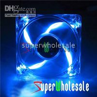 Wholesale 100pcs New Computer PC Case Blue Neon LED Fans Cooler Fan V