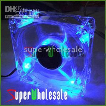 Wholesale 100pcs New Computer PC Case Blue Neon LED Fans Cooler Fan V Superwholesale