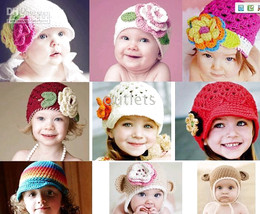 CROCHET HAT cap Beanie Hat Hair Accessory Baby Toddler Girl 21pcs lot