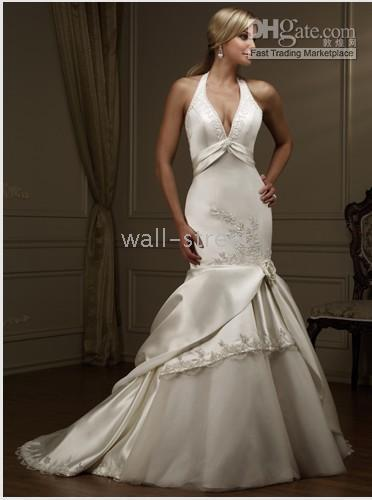 Sexy 2010 wedding dresses - 2010 NEW Sexy Wedding Dress Bridesmaid Prom Gown Halter Wedding Dresses