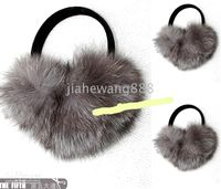 Wholesale 375 new real quality fox fur white Ear muff