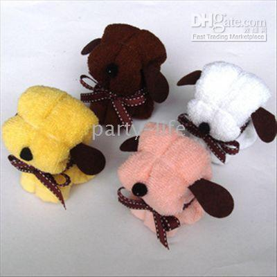 Wholesale Puppy Dog Towel towel cake for Wedding Party Favor Baby Shower