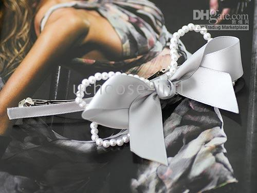 Wholesale Korean style Pearl Bow hairpin Hair Accessories mixed order