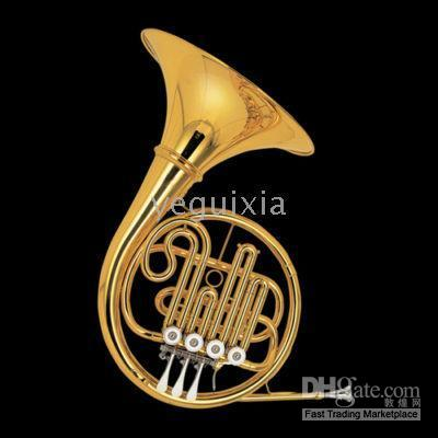 Wholesale JINBAO Gold Lacq French Horn Bb tone key with Case JBFH