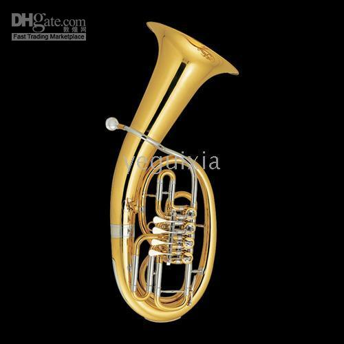 bb tuba - Highgrade Gold Euphonium Bb Cupronickel Pipe wi case JBEP JINBAO