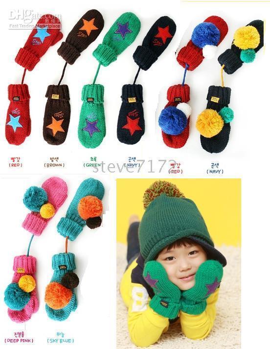 Wholesale New Arrival Baby Gloves Infant Mittens Cute girls Glove Kids Knitting glove children glove CL