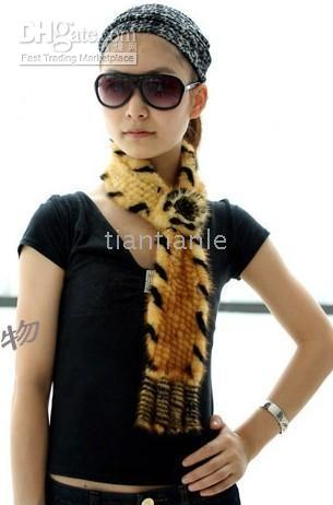 Wholesale New real water mink scarf shawls multicolor optional