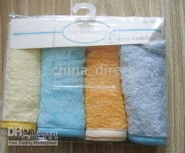 Baby Wash cloth infant washcloths 4pcs each bag,20bags lot