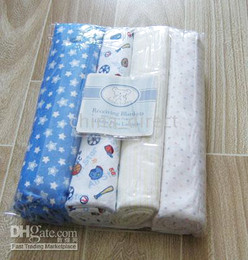 baby Receiving Blankets Baby Blanket 4pcs each bag 5bags lot