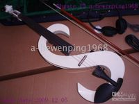Wholesale New arrival white S Electric Violin Outfit arrival
