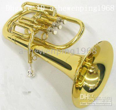 Wholesale New arrival Brass Super Bb BARITONE TUBA PISTON HORN With case