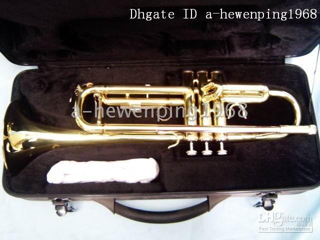 Wholesale New arrival XG gold Trumpets with case A hot sale