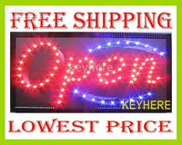 Wholesale 20pcs Flashing led open sign ligh LED high quality business Neon sign light for shops