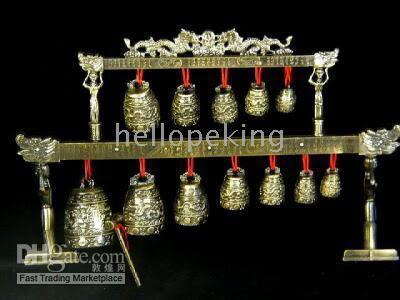 Wholesale Rare Tibet cuprum bell dragon musical instrument percussion