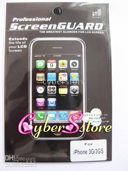 Wholesale 800pcs Clear LCD Screen Protector Skin for iPhone G GS G GB GB