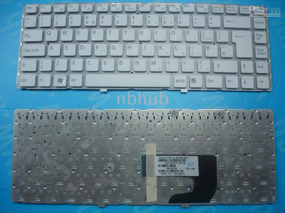 Wholesale New SONY VGN NW VGN NW UK Laptop Keyboard WHITE Warranty days
