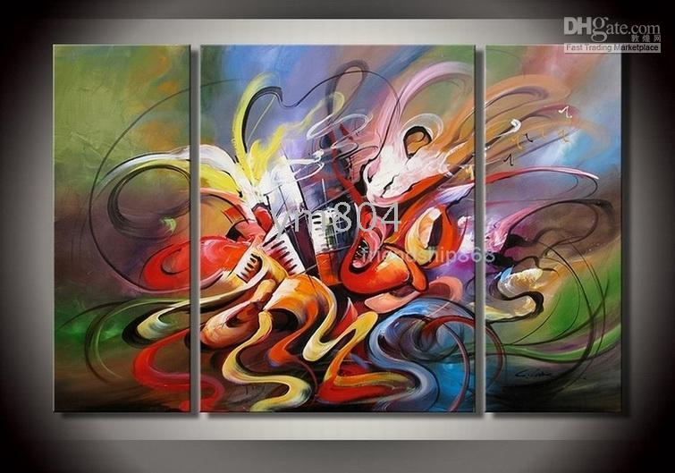 art deco picture frame - 3 panels Handpainted Large Modern Abstract Art Oil Painting Wall Deco canvas in any custom sizes