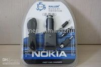 Wholesale 40 SET Vehicle Power Adapter For Mobile NOKIA MP3 MP4 Battery Chargers