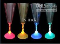 Wholesale free shiping led flash lighting champagne cup bar light
