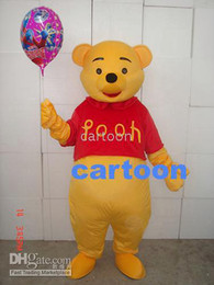 Wholesale Real Pictures Deluxe Pooh Bear mascot costume Adult SIZE Halloween Party Children Fancy dress factory direct free sh