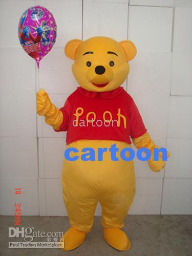 sh - Real Pictures Deluxe POOH BEAR Mascot costume Adult SIZE Halloween Party Children Fancy dress factory direct free sh