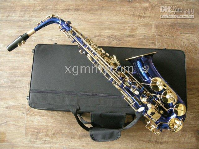 alto saxophone blue - Alto sax New product Blue color Perfect Student Alto Saxophone