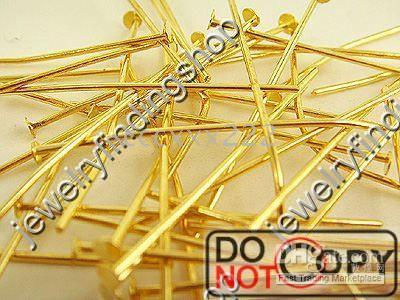 Wholesale 400g K gold plated Head Pins mm Findings C0386