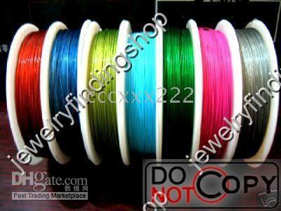 Wholesale 30Rolls Metre mixed colour Tiger Tail Beading Wire C0505