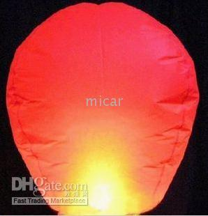 Wholesale 100pcs Flying Kong Ming Kongming Chinese Sky wish Lantern BALLOON NOVELTY make a wish