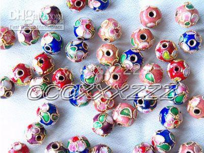 Wholesale CHINESE CLOISONNE beads mm pieces j043
