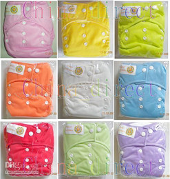 #13  hot  Washable Baby pocket diapers Cloth Nappies Nappy WITH 2 INSERTS 20sets lot