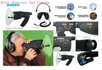 Wholesale New Free Drop Shipping Bird Observer Telescope Sound Amplifier Spy Camera Digital Spy Recording