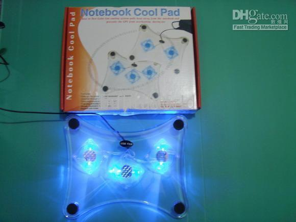 Wholesale 10PCS USB NOTEBOOK COOLING PAD LAPTOP COOLER X LED FAN NEW