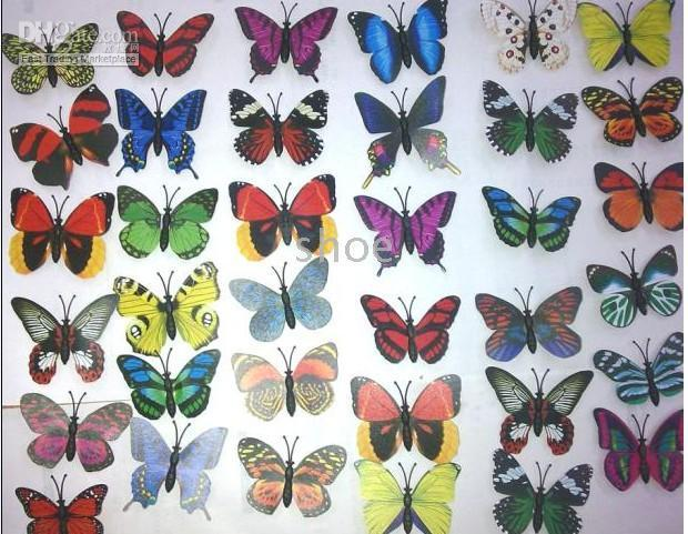 Wholesale 500 cm Butterfly Fridge magnets party decorationArtificial plastics styles wide