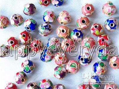 Wholesale CHINESE CLOISONNE beadS mm j043
