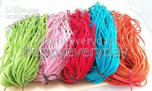 Wholesale multicolor velvet With Connector For Necklace str c018