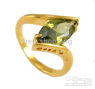 Band Rings attendant gifts - ring luxury yellow gold Lady s Women s KT GP Gift Jewlery Sky attendants gem gemstone Party gift