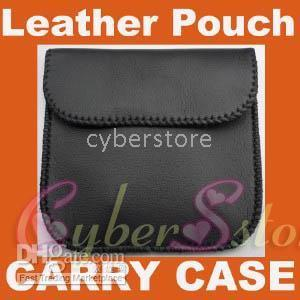 Wholesale Universal Soft Leather Pouch Carry Case Bag Cover Soft pocket Black for headphone earphone USB cable money