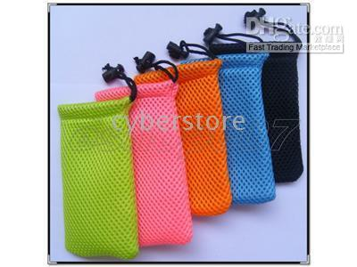 Yes Textile For iPod Classic sport mesh pouch bag case for cell phone camera mp3 (200pcs lots )