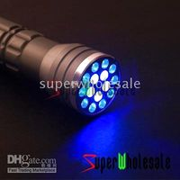 Wholesale 30pcs LED UV LASER in Ultra Violet Lamp Torch Flashlight Flash Light