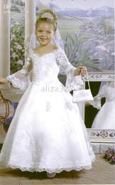 new Wholesale -Flower Girls' Dresses Charming white Girls Dresses Flower Girl Dress Birthday Dresses Ceremony Dress