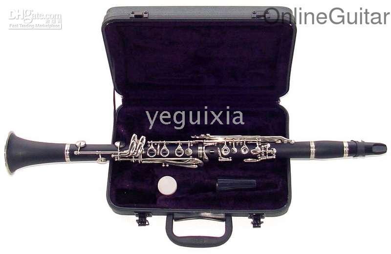 Wholesale China famous brand Beautiful black silver keys clarinet JINBAO