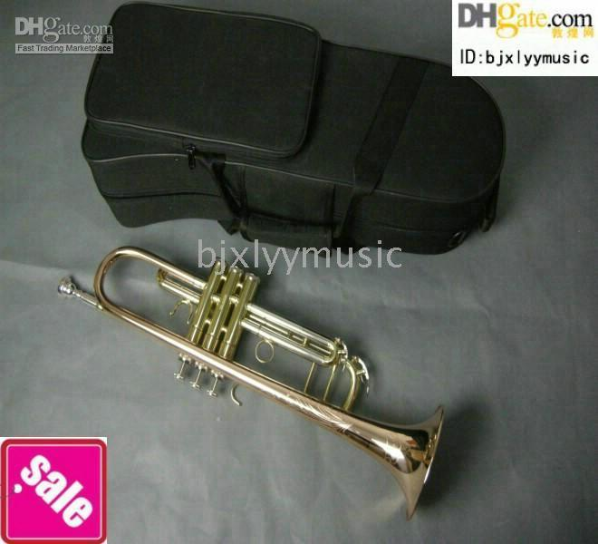 Wholesale NEW High copper professional trumpet Brass With case Phosphor copper Trumpet